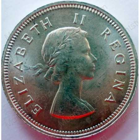 Two Shillings, South Africa, 1954, Silver